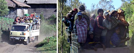 transport crowded truck