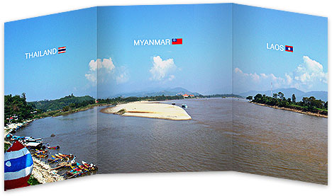 the golden triangle - thailand myanmar burma laos