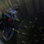 motorcycle stunt, riding inside a barrel - in Berastagi