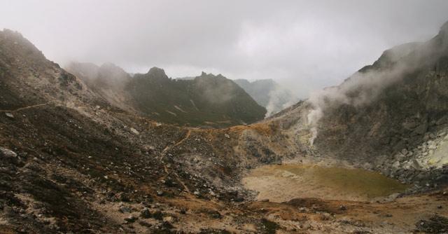 Sibayak volcano, Berastagi, Sumatra