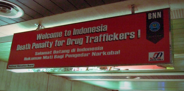 welcome to indonesia. death to drug traffickers