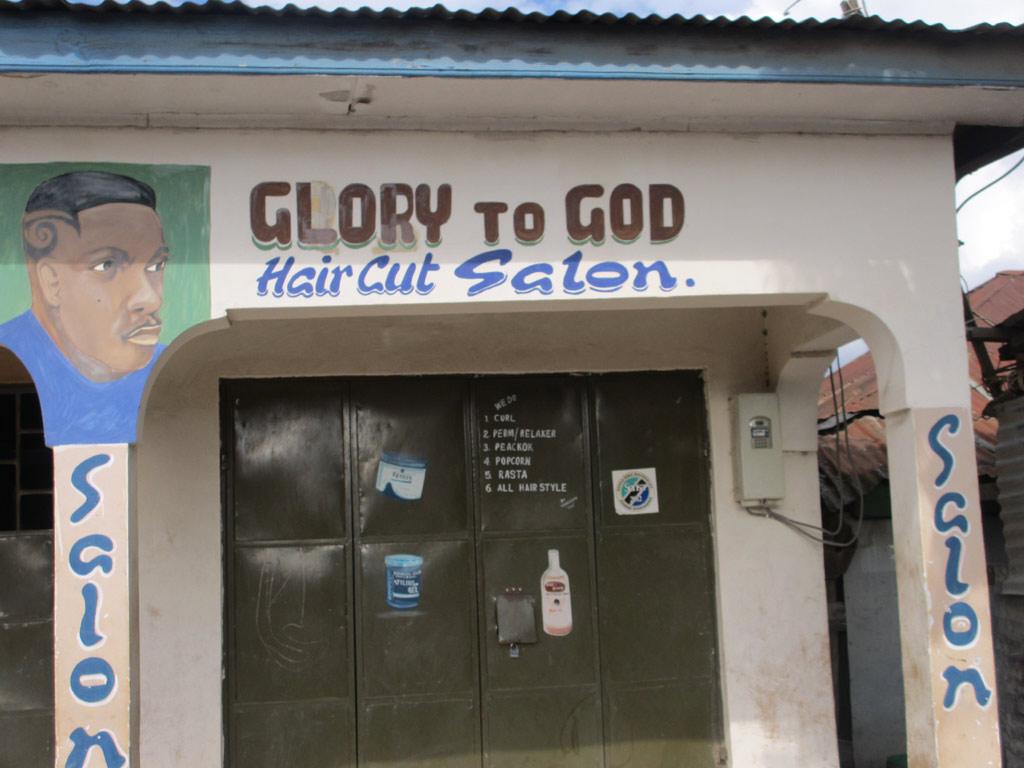 glory to god haircut salon